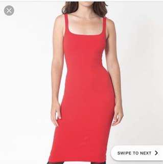 Red American apparel tight dress size xs
