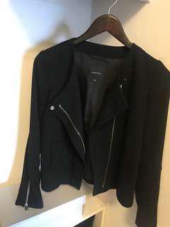 Babaton black jacket size 0