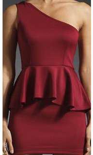 Lovers + friends red peplum dress