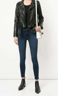 Nobody Geo Skinny Ankle Denim Jeans in Rebel Blue - Size 24/6