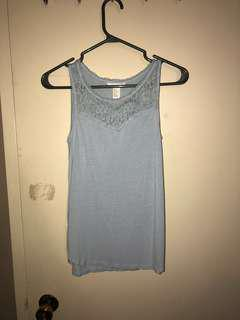Blue Sleeveless H&M Shirt