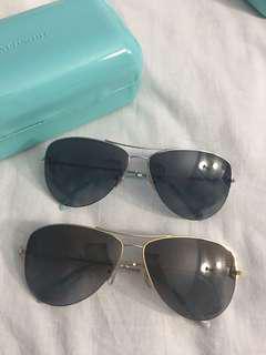 EUC Tiffany and Co Aviator Sunglasses Polarized