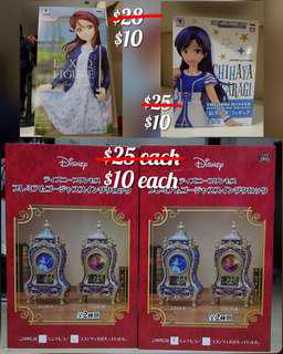 CLEARANCE BNIB EXQ Idolm@ster Figure Disney SEGA Princess Display Clock