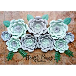 Paper flower termurah silver mint