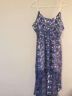 Beautiful crochet high low dress - M