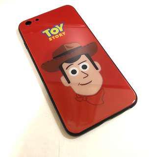 🚚 【現貨】iPhone6plus玩具總動員胡迪鋼化玻璃殼手機殼保護殼手機套保護套(促銷)