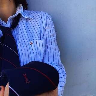 YSL men's silk tie