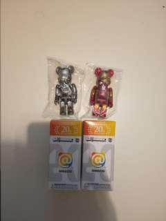 Medicom toy bearbrick ironman 2 set 鐵甲奇俠 100% be@rbrick