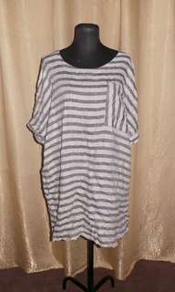 SALE Stripe Linen Loose Dress