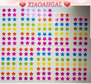 🌟222 PCS (10 sheets)🌟🔴50% OFF ($1.90)➡️ FOLLOWERS🔴🚫Non Followers buy at $1.90🚫💖Coloured Star stickers💖💋No pet No smoker Clean Hse💋