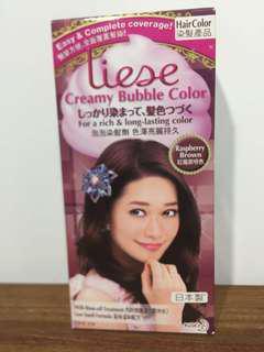 Liese泡泡染髮劑 (紅莓紫啡色) 全新