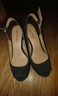 Call it Spring Black Wedges size 6.5