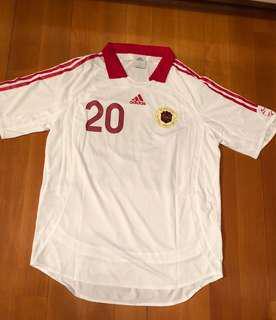 絕版Adidas香港足球隊球員版作客球衣 (Size: M)