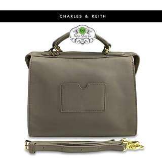 CHARLES & KEITH HANDBAG WITH SLING - CHARLES & KEITH SLING BAG