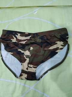 男裝高叉跑步褲型滑面質料內褲