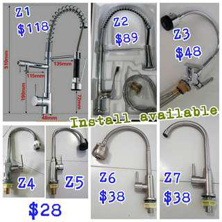 Toilet kitchen sping pull retractable mixer faucet water tap, replace, install plumber work