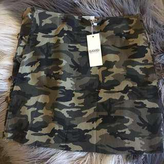 Bambi Boutique riri camo skirt