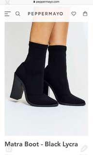 Lipstick sock boots