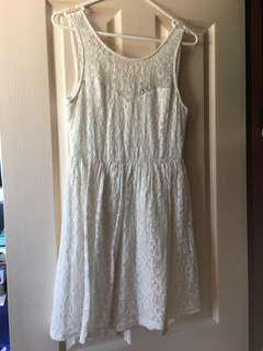 Jayjays White lace mini dress