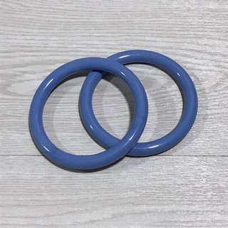 🚚 Nylon rings for making a ring sling wrap conversion or just wrapping with rings - LIGHT BLUE