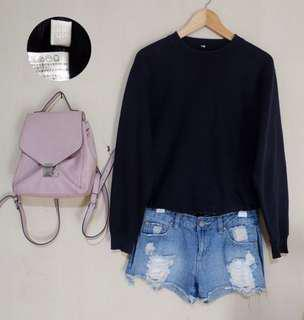 sweater uniqlo hitam
