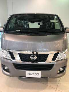 From $50/day New Nissan Urvan Auto 5 doors for long term rental.