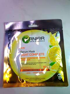 REPRICE!! Garnier Serum Sheet Mask Lightening Complete