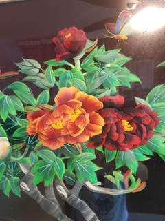 ❤3D Chinese floral embroidery (big framework)