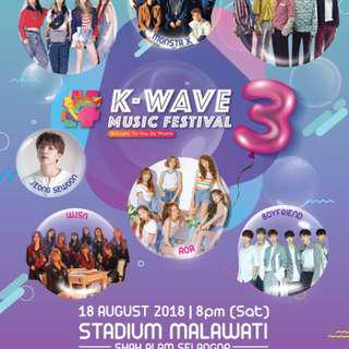 SELLING KWAVE ROCKZONE TICKET FOR RM250