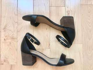 Call it Spring Black Block Heeled Sandals Size 7.5