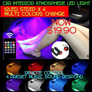 Atmosphere 12 LED Light Strip With Music Sound Sensor