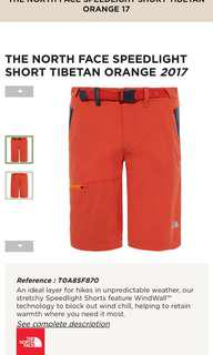 The North face Speed light shorts