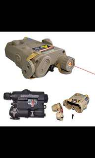 (P.O.)PEQ 15 Style Battery Case Box with Red Laser Tactical PEQ-15 Case Box