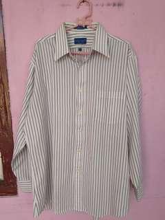 Kemeja stripe made in Korea