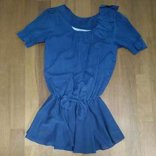 寶藍小洋裝