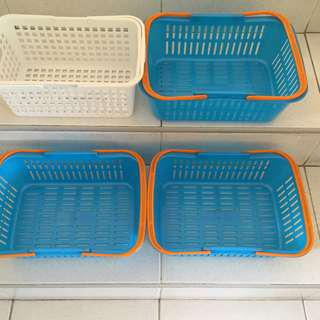Plastic Baskets for Books, Dramatic Play, Craft Materials etc.