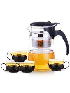 沖茶機泡茶器750ML 連四個杯