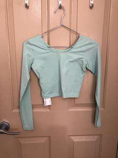 American apparel crop long sleeve top