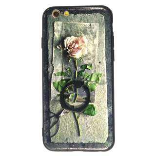 LitPink Rose iphone 5 5s 6s 7 plus 8 plus hard ring case