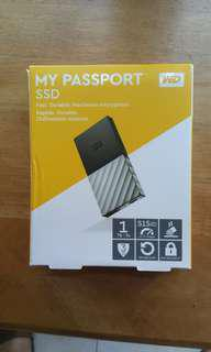 MY PASSPORT SSD 1TB 1000GB solid state portable flash / hard drive super light and small size HDD external portable