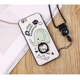 Elephant iphone 6/6s 7/7plus 8/8plus hard ring case