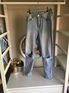 Ziggy style ripped jeans