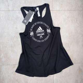 🚚 【全新】Adidas logo背心 運動背心 罩衫 nike 992