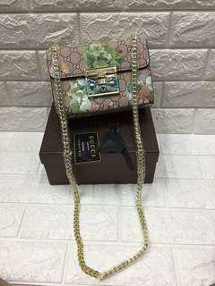Gucci floral sling bag