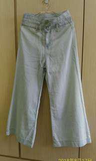 韓國牛仔寬褲