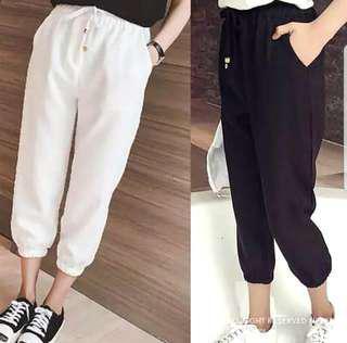 👉👉INSTOCK 3XL (M~5XL) 3/4 long pants drawstring