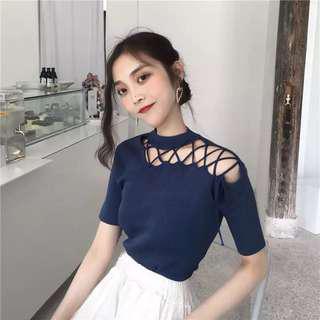 🚚 Sexy blue top