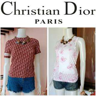 -Yunik- 🎉SALE🎉Authentic Christian Dior Monogram Print Tops