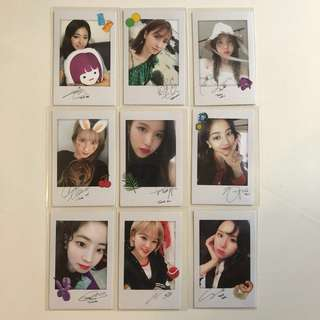 Twice Twicetagram 專輯 小卡