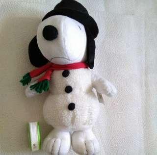 Snoopy Snowman Plush Toy  雪人毛公仔